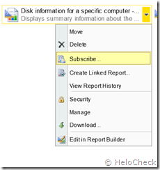 SCCM Reporting Point Run Subscribe